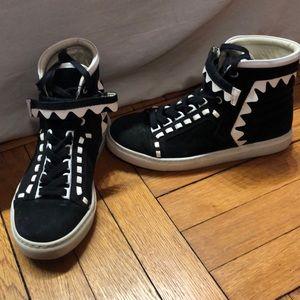 Sophia Webster black & white high top sneakers